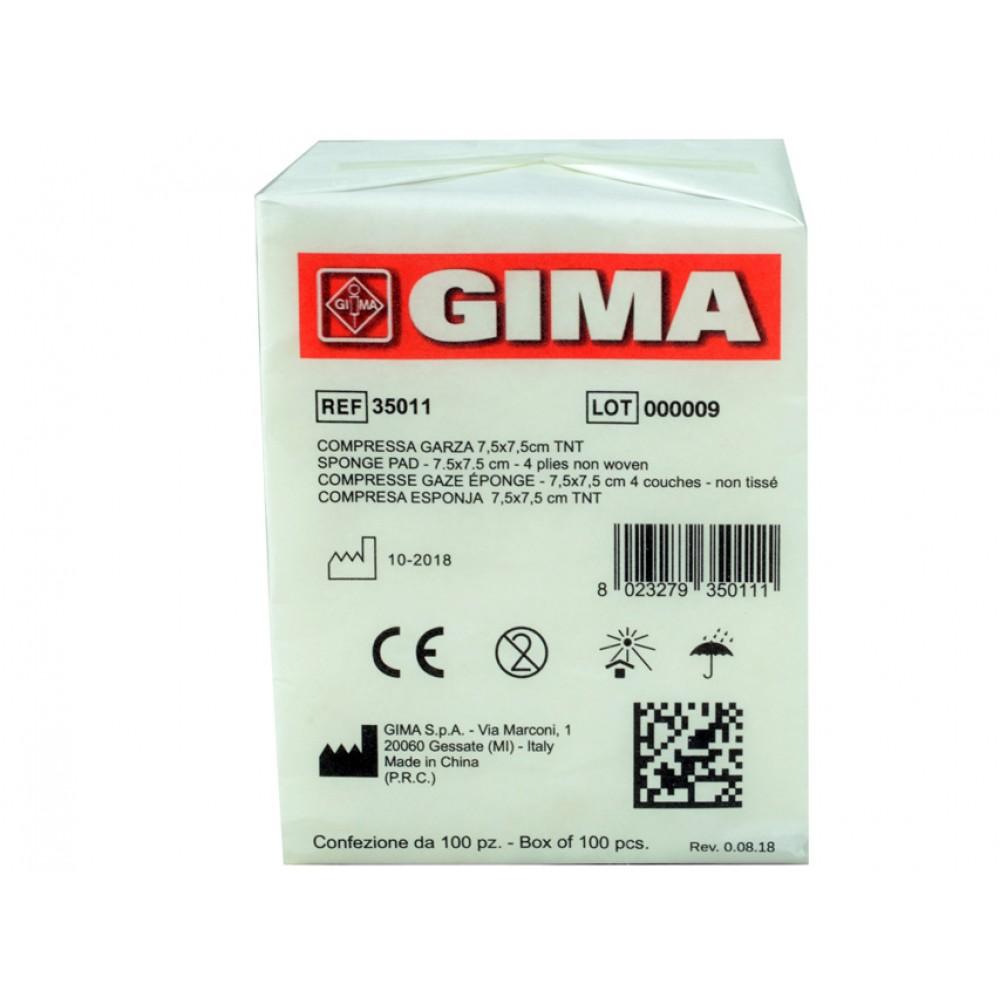 COMPRESSE GARZA TNT - 4 STRATI - Dim. 7,5x7,5 cm - 1000 pezzi