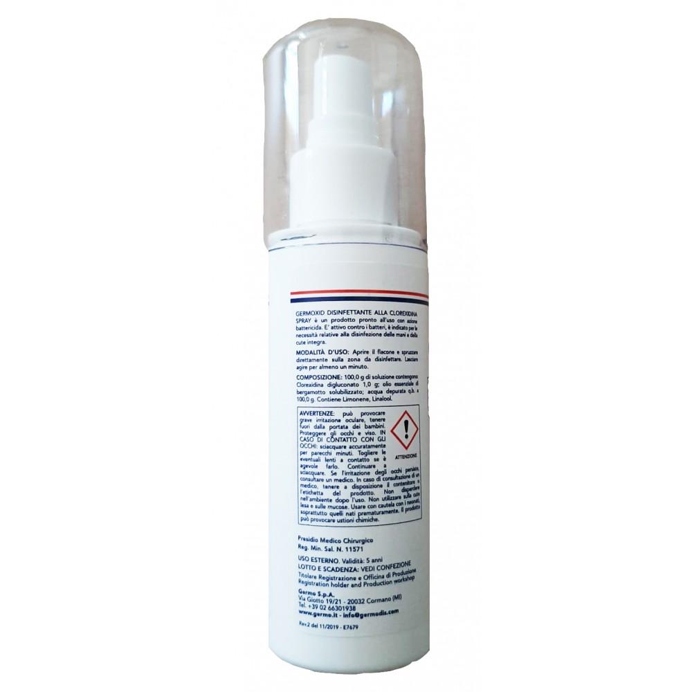 DISINFETTANTE SPRAY GERMOXID - CLOREXIDINA - conf. 12 pz. 100 ml