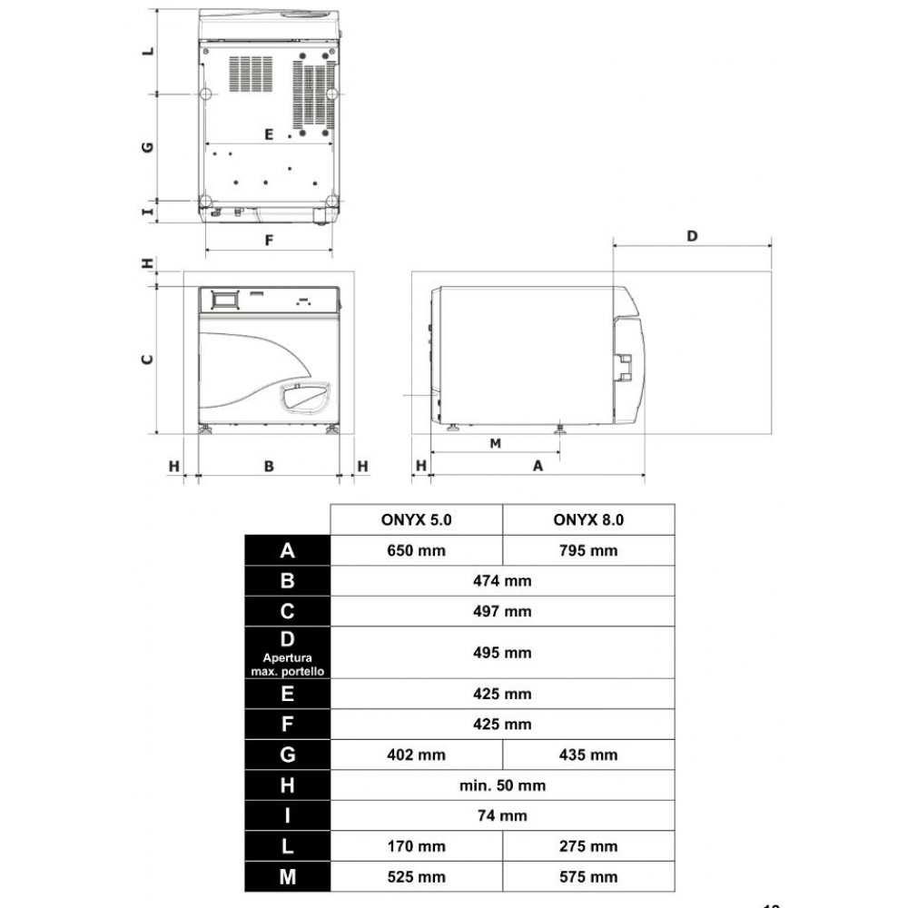 AUTOCLAVE PER STERILIZZAZIONE - CLASSE B - OnyxB 8.0 - Tecno-Gaz