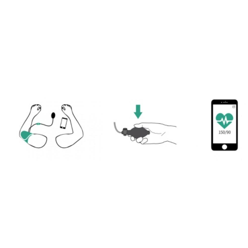 SFIGMOMANOMETRO DIGITALE - BLUETOOTH - SMARTPHONE E TABLET - AirBP
