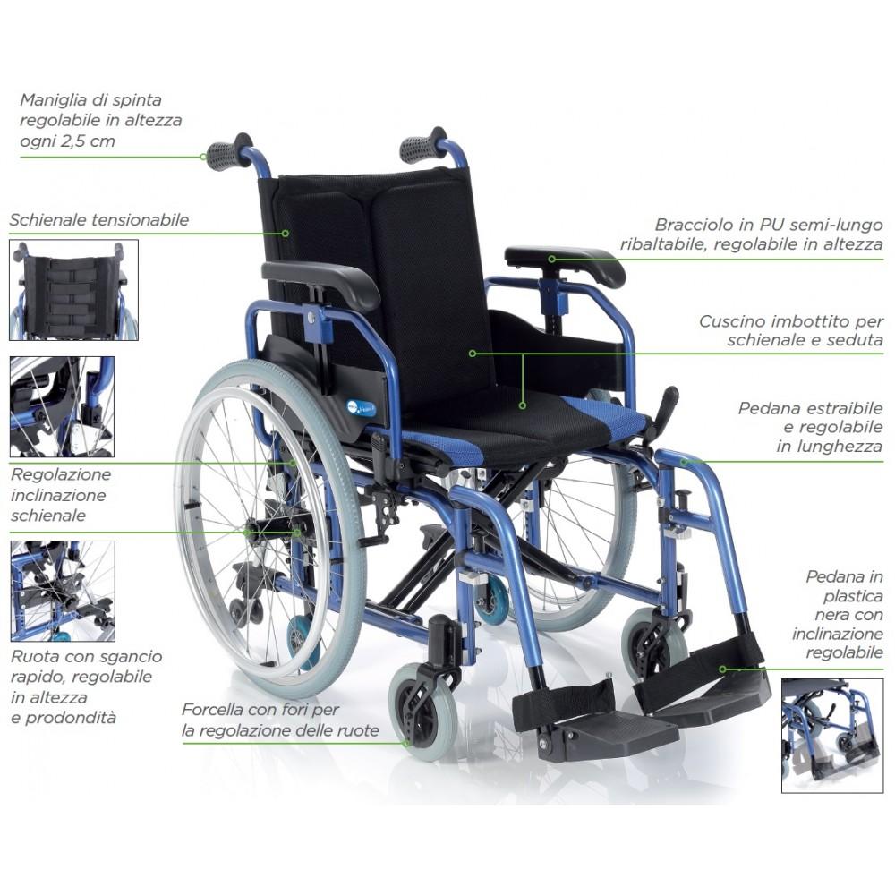 Sedia a rotelle / carrozzina per disabili doppia crociera ...