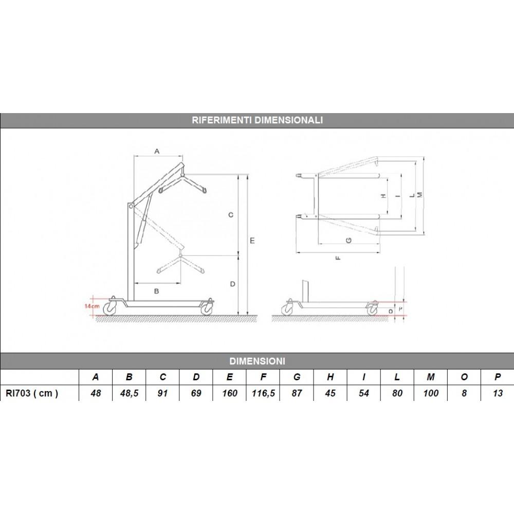 SOLLEVATORE ELETTRICO - APERTURA A PEDALE - TiMOTION - Portata: 180kg