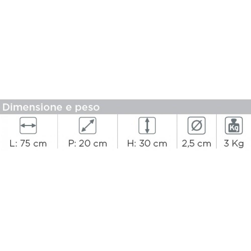 MANIGLIA DI SICUREZZA RIBALTABILE DA MURO IN ACCIAIO - Ø 2,5 cm