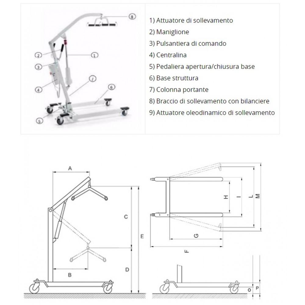 SOLLEVATORE PER DISABILI ELETTRICO - TERMIGEA SO12 - Portata 150 Kg