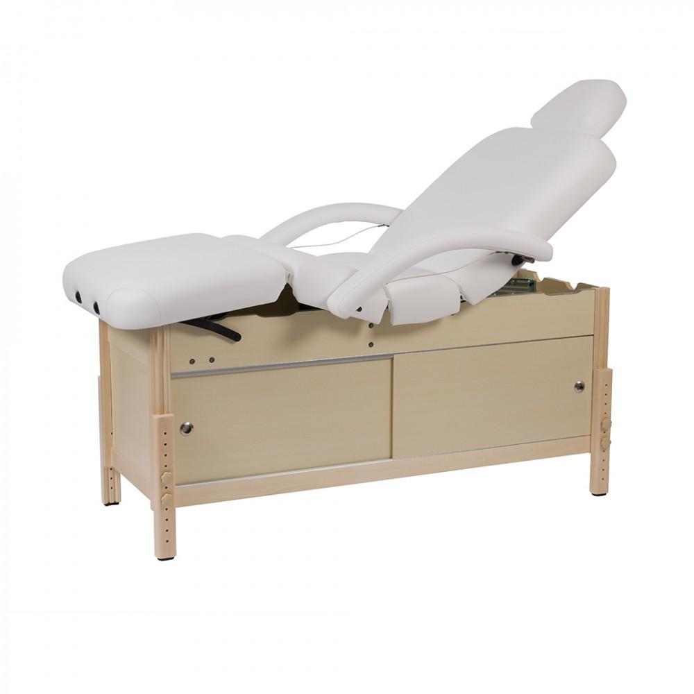 Lettino Massaggio Fisso Legno.Lettino Massaggio In Legno Regolabile In Altezza Cassetto