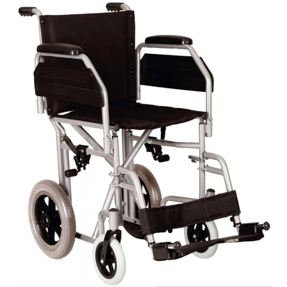 Sedia a rotelle da transito pieghevole - ingombro ridotto ...