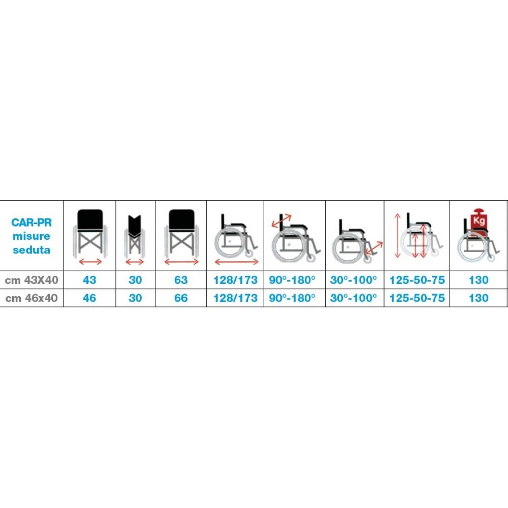 Sedia a rotelle ad autospinta - schienale reclinabile ...