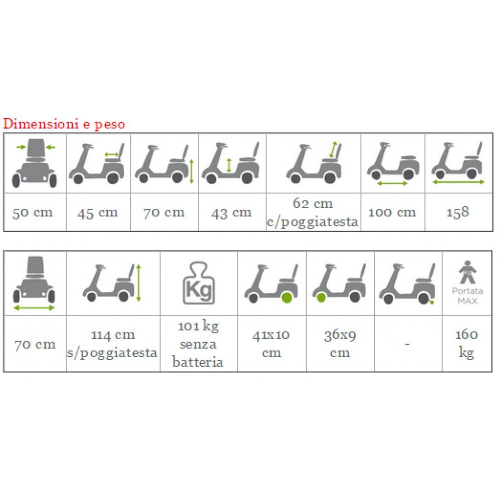 SCOOTER ELETTRICO ROYALE - per disabili ed anziani