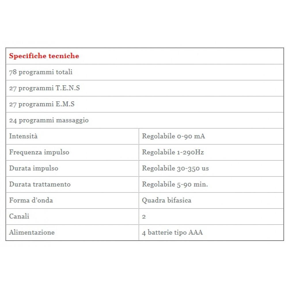ELETTROSTIMOLATORE COMBINATO 3 IN 1 - TENS + EMS - MORETTI LTK545