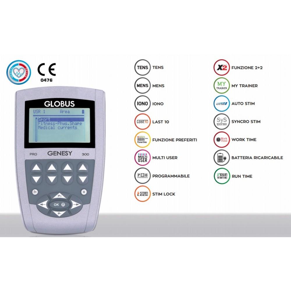 ELETTROSTIMOLATORE A 4 CANALI - 91 PROGRAMMI - Genesy 300 Pro Globus