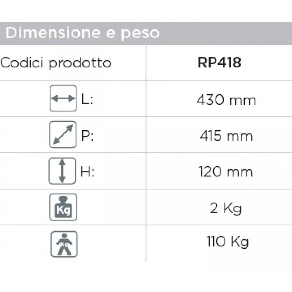 RIALZO WATER CON BLOCCO FRONTALE - Altezza 12 Cm - Moretti