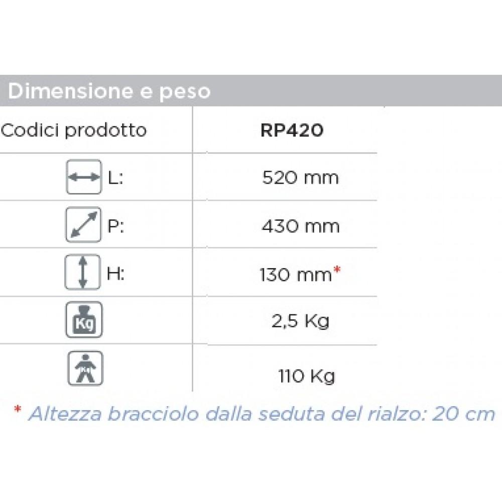 RIALZO WATER CON BRACCIOLI FISSI - Altezza 13 cm - Moretti
