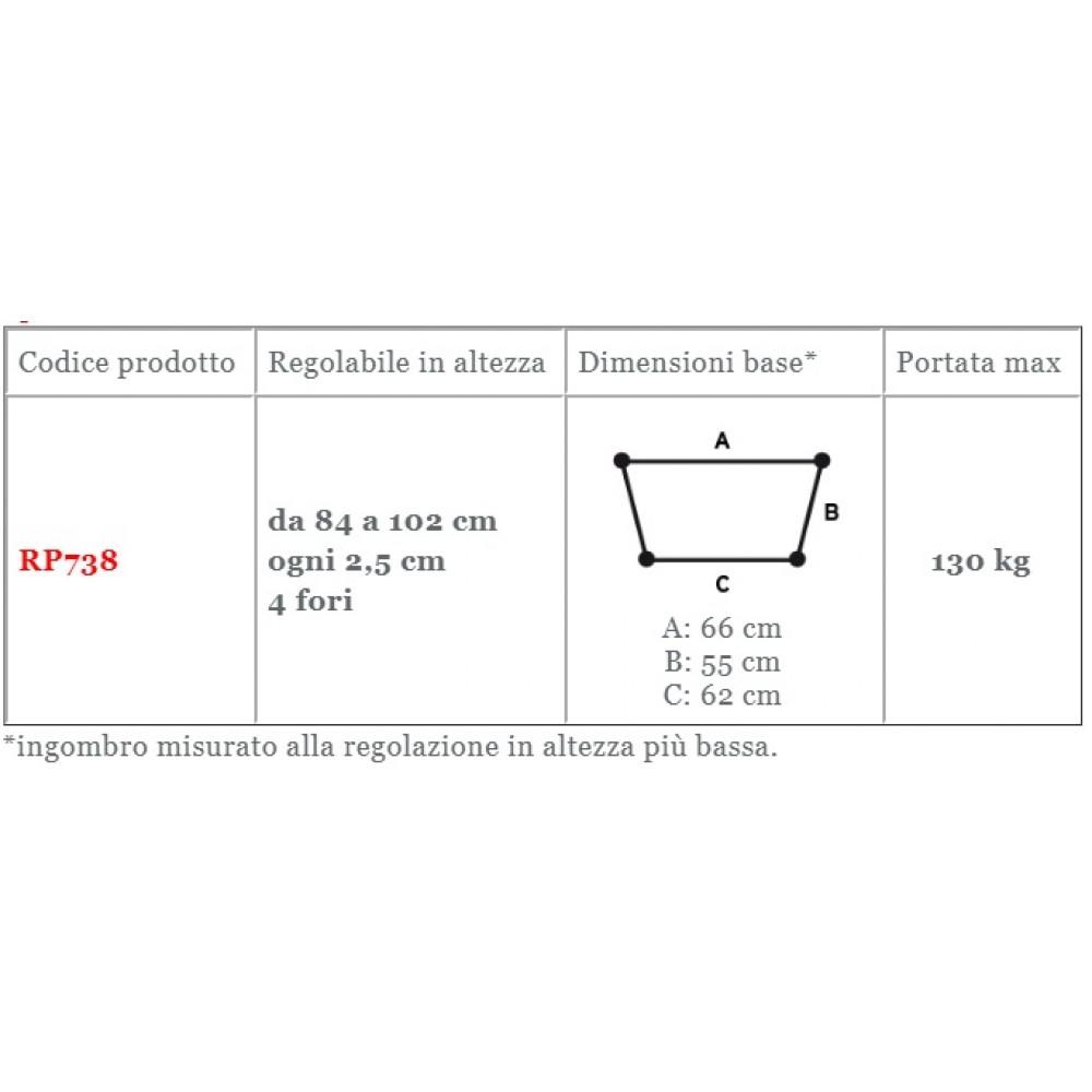 DEAMBULATORE PIEGHEVOLE REGOLABILE - SISTEMA AUTOBLOCCANTE - Moretti RP738