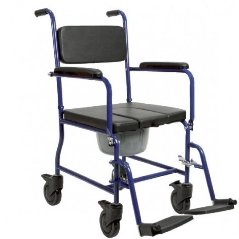 Sedia comoda WC smontabile per anziani e disabili ...