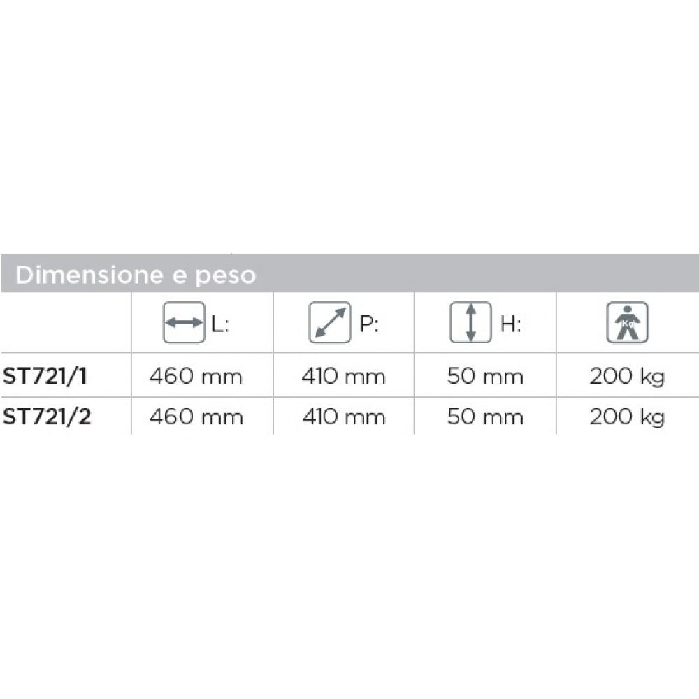 CUSCINO A BOLLE D ARIA IN NEOPRENE - 2 SEZIONE - 46x41x5 Cm