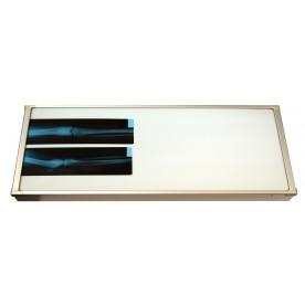 Negativoscopio diafanoscopio 120x42 cm - orizzontale - acciaio inox