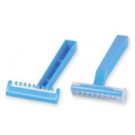 RASOIO MONOUSO MONOLAMA - Colore azzurro - confezione da 100 pz