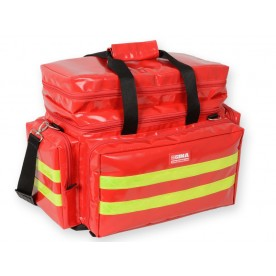 BORSA EMERGENZA PROFESSIONALE SMART IN PVC - MEDIA - ROSSA