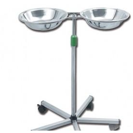 CARRELLO PORTACATINO DOPPIO - Altezza regolabile da 60 a 95 cm