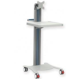 CARRELLO MULTIFUNZIONE - 1 RIPIANO - CON SUPPORTO MONITOR - 32x26 cm - Gima Mod. Super Easy