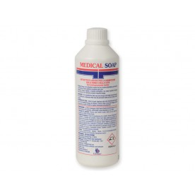 SAPONE DISINFETTANTE MANI E CUTE - MEDICAL SOAP - 0,5l - Conf. 12pz