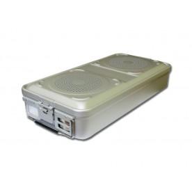 CONTAINER STANDARD 580 x 280 x 100 mm - 2 filtri - n.p. - grigio