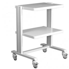CARRELLO BASIC - IN ALLUMINIO - Dim. 60x43 cm - 2 RIPIANI - Portata max: 60 Kg