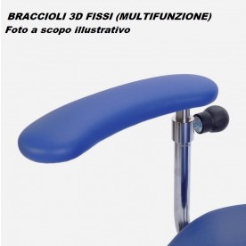 BRACCIOLI 3D FISSI MULTIFUNZIONE PER SEDIA CHIRURGO SURGIMOVE