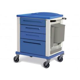 CARRELLO PROFESSIONALE MOD. BASIC - 4 cassetti - Colore blu - Dim. Standard 82x64x100 cm