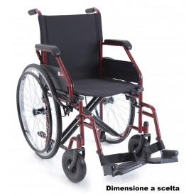 CARROZZINA AD AUTOSPINTA PIEGHEVOLE - DOPPIA CROCIERA - Start 2 Rossa
