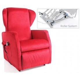 POLTRONA RELAX A 2 MOTORI CON ROLLER A 4 RUOTE - Ninfea - Colore a scelta