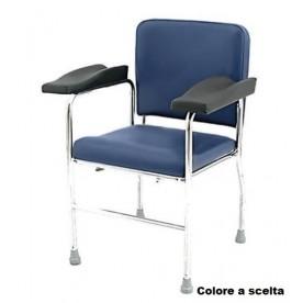 SEDIA PRELIEVO A USO OSPEDALIERO - BRACCIOLI SAGOMATI - Portata 150 kg