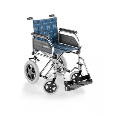 SEDIA A ROTELLE / CARROZZINA DISABILI DA TRANSITO - SUPERLEGGERA - Dim.Seduta 43 Cm. - Mod.SURACE 200