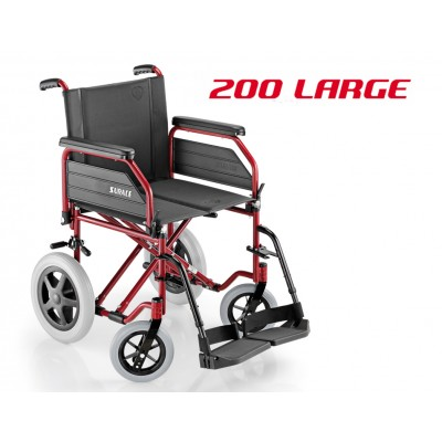 SEDIA A ROTELLE / CARROZZINA DISABILI DA TRANSITO - SUPERLEGGERA - Dim.Seduta 48 Cm. - Mod.SURACE 200 LARGE