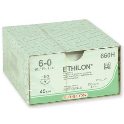 SUTURA MONOFILAMENTO ETHICON ETHILON - GAUGE 6/0 - ago 16 mm - Conf. da 36 pz.
