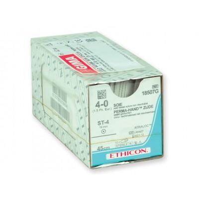 SUTURA SETA ETHICON PERMA-HAND - 4/0 ago 19 mm - retta - Conf. da 12 pz.