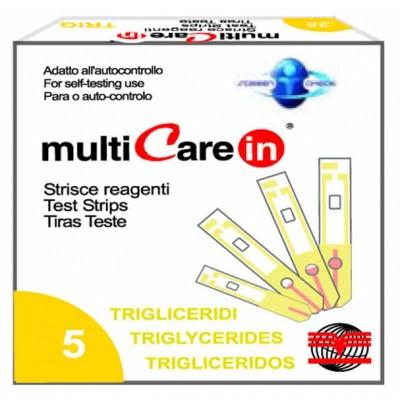MULTICARE IN® STRISCE TRIGLICERIDI - 5 pz. + 1 chip