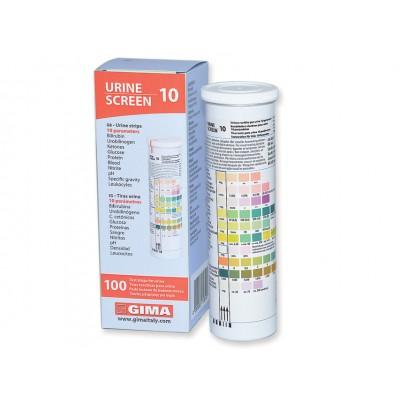 STRISCE URINE - 10 PARAMETRI - 1 Flacone da 100 pz - Gima