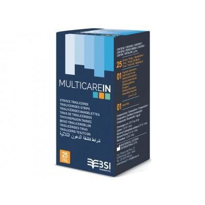 STRISCE TRIGLICERIDI MULTICAREIN - Conf. da 25pz - (cod. 23965/66/67 e 24150/1/2)
