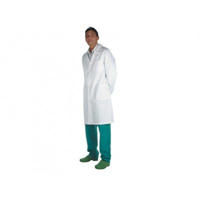CAMICE MEDICALE CON AUTOMATICI - UNISEX - Bianco - Taglia 46