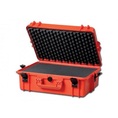 VALIGETTA STAGNA GIMA CASE 430 - RESISTE ACQUA E POLVERE - con inserti in spugna - arancione