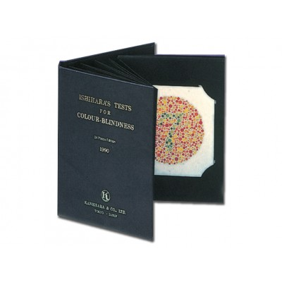 TEST DALTONISMO TAVOLE ISHIHARA - libro da 10 tavole