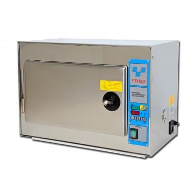 STERILIZZATRICE A SECCO ELETTRONICA - RIPIANI REGOLABILI - unità digitale - 20 litri - Gima Mod. Titanox