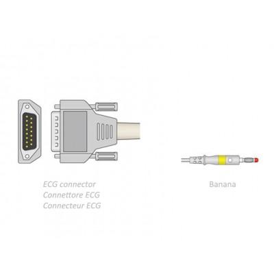 CAVO PAZIENTE ECG 2,2 m - banana - compatibile Biocare, Edan, Nihon