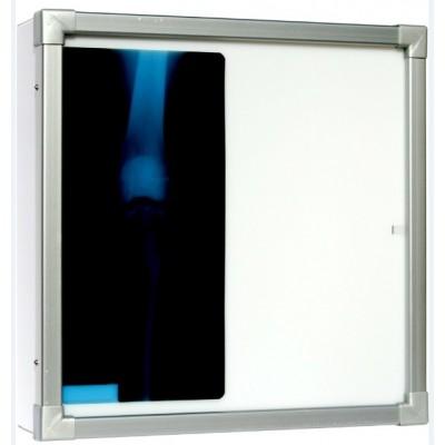 Negativoscopio diafanoscopio 90x84 cm - orizzontale 2 settori - verniciato