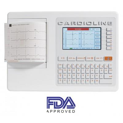 ELETTROCARDIOGRAFO - 3/6 CANALI - 12 DERIVAZIONI - CARDIOLINE ECG100+