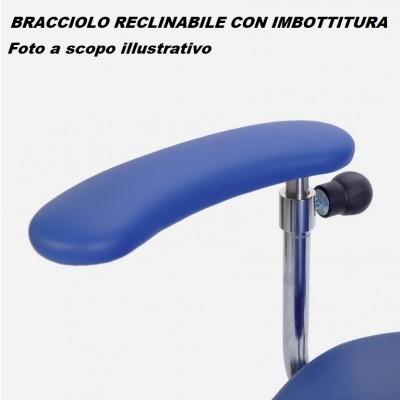 BRACCIOLO RECLINABILE CON IMBOTTITURA PER SEDIA CHIRURGO SURGIMOVE