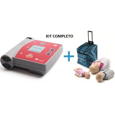 KIT FORMAZIONE PRIMO SOCCORSO - AED TRAINER FR2 + LITTLE FAMILY