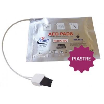 Coppia di Piastre Pediatriche per Defibrillatore Semiautomatico Life-POINT Pro AED