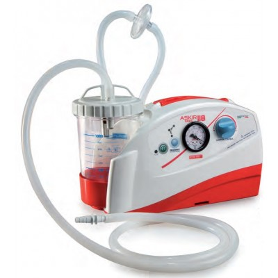 ASPIRATORE CHIRURGICO - 1 VASO DA 1000ml - STAFFA AMBULANZA - New Askir 118 Basic